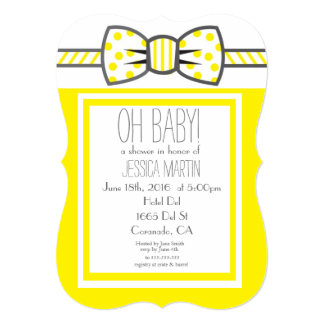 Bow Baby Shower Invite