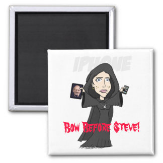 Bow Before Steve! 2 Inch Square Magnet