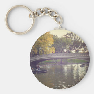 Bow Bridge and Boats, Central Park, NYC Keychain