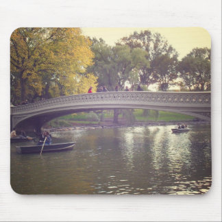 Bow Bridge and Boats, Central Park, NYC Mouse Pad