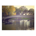 Bow Bridge and Boats, Central Park, NYC Post Card