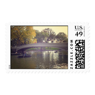 Bow Bridge and Boats, Central Park, NYC Postage