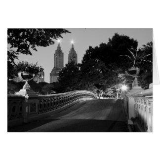 Bow Bridge at Dusk, Central Park Greeting Card