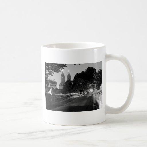 Bow Bridge at Dusk, Central Park Classic White Coffee Mug