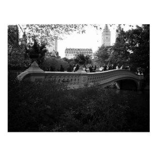 Bow Bridge, Black and White, Central Park, NYC Postcard