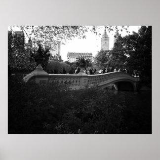 Bow Bridge, Black and White, Central Park, NYC Print