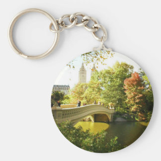 Bow Bridge, Central Park, Late Summer, NYC Keychain