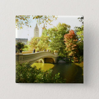 Bow Bridge, Central Park, Late Summer, NYC Pinback Button