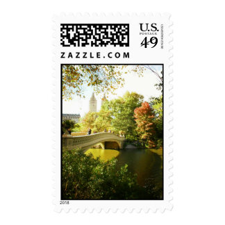 Bow Bridge, Central Park, Late Summer, NYC Postage Stamps