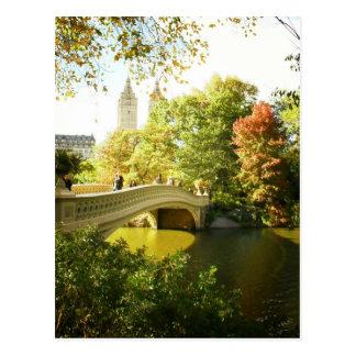Bow Bridge, Central Park, Late Summer, NYC Postcard