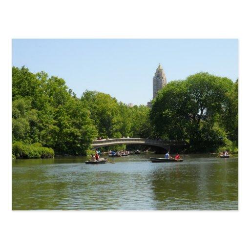 Bow Bridge Central Park Manhattan Postcard NYC