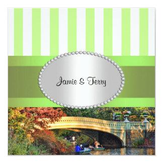 Bow Bridge, Central Park NYC 2 Wedding Invitation