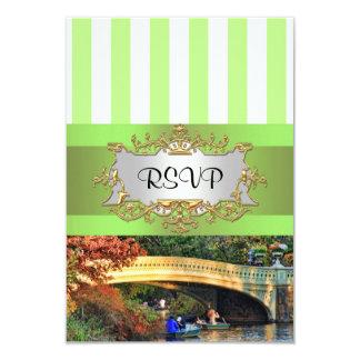 Bow Bridge Central Park NYC Invitation Suite  RSVP