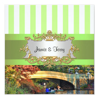 Bow Bridge, Central Park NYC Wedding Invitation
