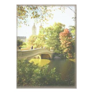 Bow Bridge Central Park Wedding Card