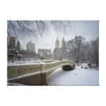 Bow Bridge - Central Park Winter Gallery Wrapped Canvas