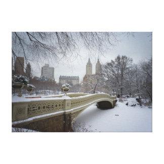 Bow Bridge - Central Park Winter Canvas Print