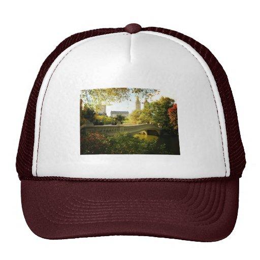 Bow Bridge in Autumn, Central Park, New York City Trucker Hat