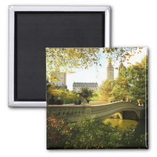 Bow Bridge in Autumn, Central Park, New York City Magnet