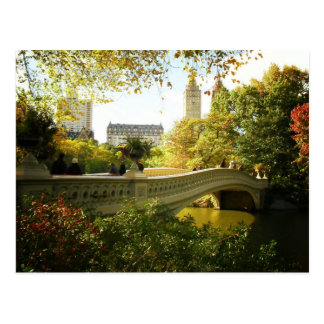 Bow Bridge in Autumn, Central Park, New York City Postcard