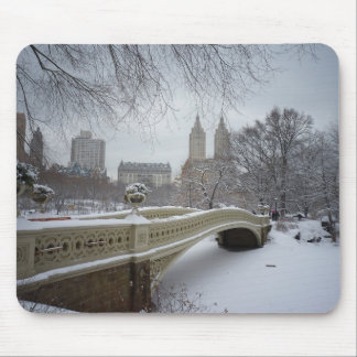 Bow Bridge in Winter, Central Park, New York City Mouse Pad