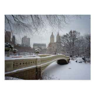 Bow Bridge in Winter, Central Park, New York City Postcard