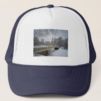 Bow Bridge in Winter, Central Park, New York City Trucker Hat