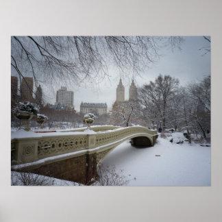 Bow Bridge in Winter, Central Park, NYC, Medium Print