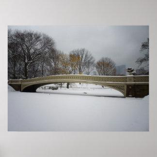 Bow Bridge, Winter Landscape, All Sizes Posters