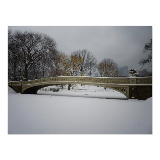 Bow Bridge, Winter Landscape, All Sizes Poster