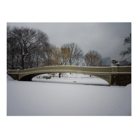 Bow Bridge, Winter Landscape, All Sizes Poster