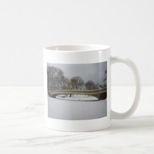 Bow Bridge, Winter Landscape, New York City Mugs