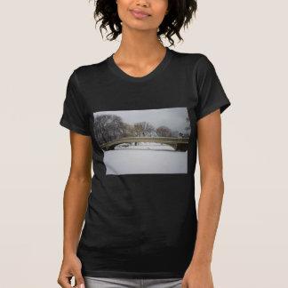 Bow Bridge, Winter Landscape, New York City Tshirts