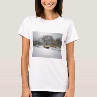 Bow Bridge, Winter Trees, Central Park, NYC T-Shirt