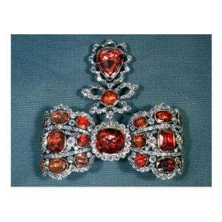 Bow brooch set with brilliant post card