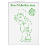 Bow Chicka Greeting Cards