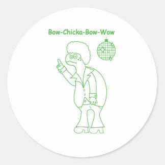 Bow Chicka Sticker