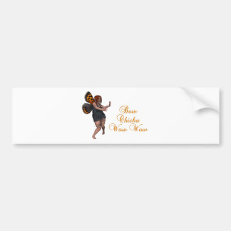 Bow chicka wow wow car bumper sticker