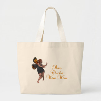 Bow chicka wow wow large tote bag