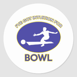 bow design classic round sticker