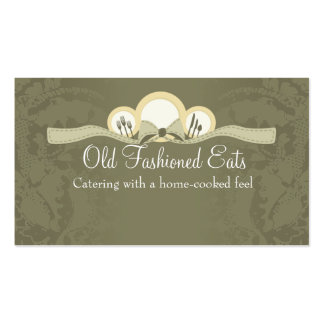 Bow dinner plates chef catering business cards