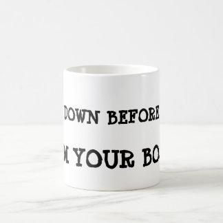 Bow down before me, I'm your boss ! Magic Mug
