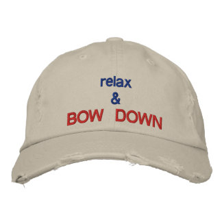 Bow Down hat Embroidered Baseball Cap