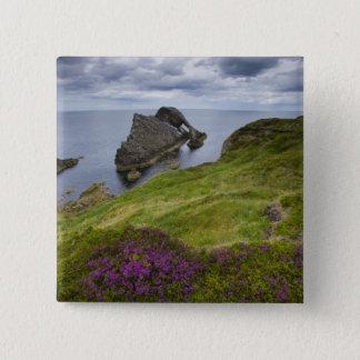 Bow Fiddle Rock, Portknockie, Scotland Button
