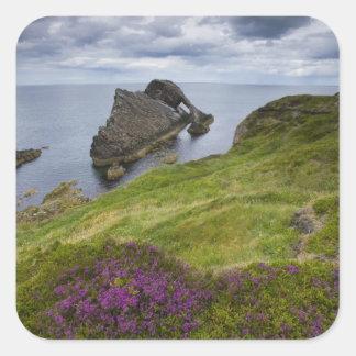 Bow Fiddle Rock, Portknockie, Scotland Square Sticker