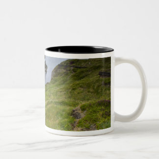 Bow Fiddle Rock, Portknockie, Scotland Two-Tone Coffee Mug