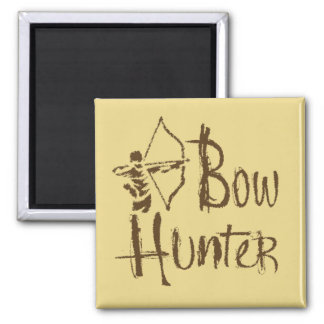Bow Hunter 2 Inch Square Magnet