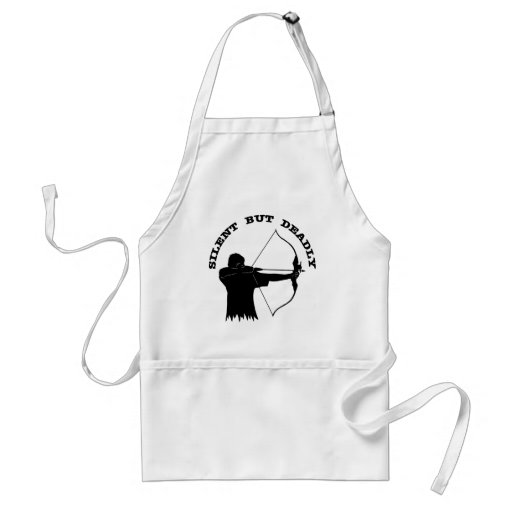 Bow Hunting Archery Silent But Deadly Adult Apron