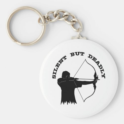 Bow Hunting Archery Silent But Deadly Keychain