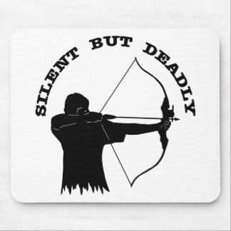 Bow Hunting Archery Silent But Deadly Mouse Pad
